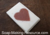 Heart Soap Made with Slab Mold!