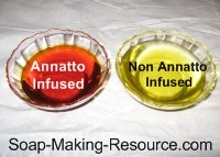 annatto seed infused olive oil and regular olive oil