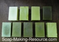 All Spirulina Soap Batches