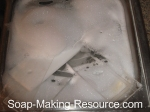 acrylic soap mold in sink
