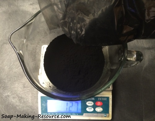 Measuring Out the Activated Charcoal Powder