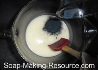 Adding Woad Powder to Handmade Soap Recipe