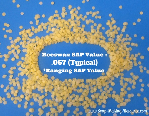 Yellow Beeswax has a Typical SAP Value of .067