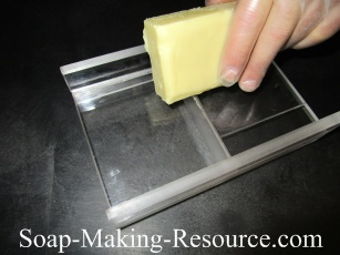 Beveling the Emu Oil Lotion Bars