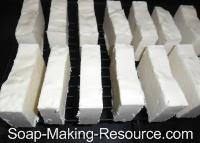 Castile Soap Curing on Rack