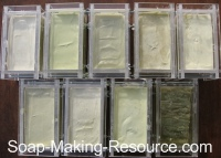 Comfrey Soap Batches