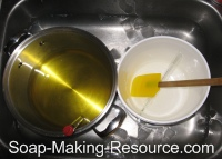Cooling Oils in Sink