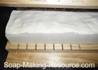 Cutting Castile Soap with Wire Soap Loaf Cutter