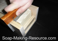 Cutting Goat's Milk Soap Using Guided Cutter