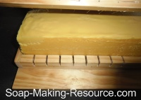 Cutting Honey Soap with Wire Soap Loaf Cutter