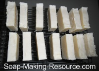 Goat's Milk Soap Curing on Rack