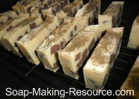 homemade soap recipe Bars Curing