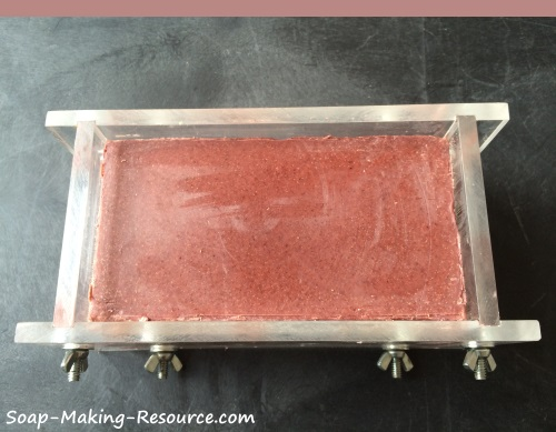 Madder Root Powder and Moroccan Red Clay Soap After the Initial Cure