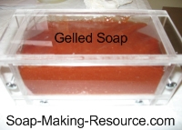 Madder Root Soap going through Gel Phase