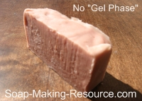 Madder Root Soap that did not go through Gel
