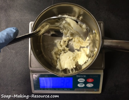 Measuring Out the Unrefined Shea Butter
