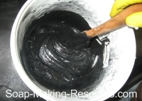 Mixing Activated Charcoal into Soap