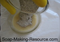 Mixing Bentonite Clay into Small Portion of Soap