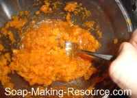 Mixing Carrot Facial Mask