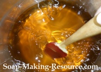 Mixing the Melted Butter, Wax and Oils