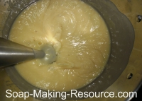 Mixing Soap with Stick Blender