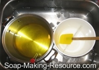 Oils and Lye Cooling in Sink