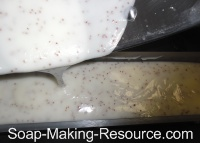 Pouring Soap into Mold