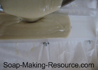 Pouring Shaving Soap Into Mold