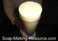 Removing Soap from Cylinder Soap Mold