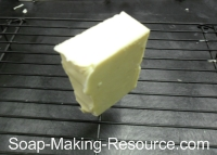 Soap Curing on Rack