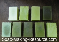 All Spirulina Soap Batches