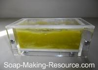 Spirulina Soap Going through Gel Phase