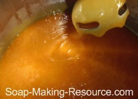 Testing Honey Soap Recipe for Trace