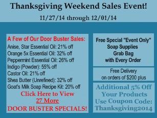 Thanksgiving Weekend Sale 2014