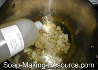 Weighing Oils for Shampoo Bar Recipe