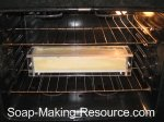 acrylic soap mold in oven