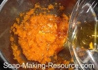 Adding the Carrot Seed Essential Oil