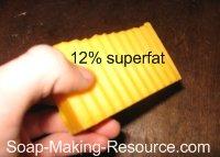 annatto seed soap 12% superfat