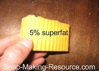 annatto seed soap 5% superfat