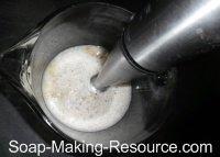 Blending Walnut Milk with Stick Blender