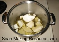 melting soap making oils