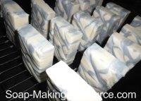 Curing Handmade Soap Recipe on Rack