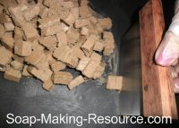 Cutting Soap into Embed Chunks