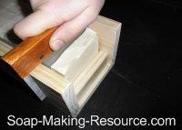 Cutting Goat's Milk Soap Using Guided Cutter