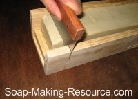 Cutting Shaving Soap with Guided Cutter