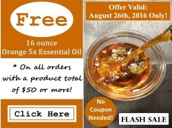 Free 16 Ounce Orange 5x Essential Oil Flash Sale
