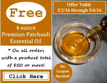 Free Premium Patchouli Essential Oil Event