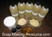 Honey Oatmeal Soap Recipe Kit