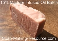 15% Infused Oil Madder Root Soap