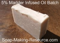 5% Infused Oil Madder Root Soap